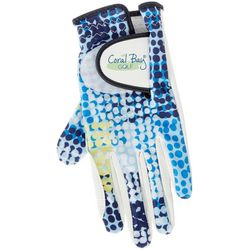 Coral Bay Golf Womens Dotted Grid Print Golf Glove