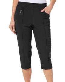 Coral Bay Golf Womens Ruched Hem Pull On Capris
