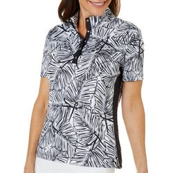 Coral Bay Golf Womens Night Fronds Short Sleeve
