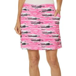 Coral Bay Golf Womens Graphic Stripe Print Pull On Skort