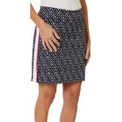 Coral Bay Golf Womens Printed Side Striped Pull On Skort