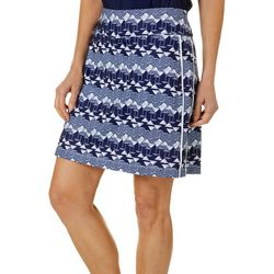 Coral Bay Golf Womens Martini Print Pull On Skort