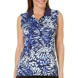 Coral Bay Golf Womens Sleeveless Butterfly Wing Polo Shirt
