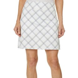 Coral Bay Golf Womens Argyle Print Pull On Skort