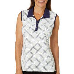 Coral Bay Golf Womens Sleeveless Arglye Polo Shirt