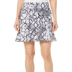 Coral Bay Golf Womens Snake Print Pull On Flounce Skort
