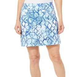 Coral Bay Golf Womens Snake Print Pull On Skort