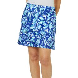 Coral Bay Golf Womens Tropical Floral Pull On Skort