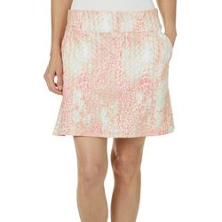 Coral Bay Golf Womens Scale Print Pull On Flounce Skort