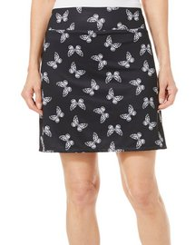 Coral Bay Golf Womens Butterfly Print Pull On Skort