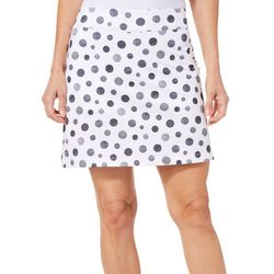 Coral Bay Golf Womens Polka Dot Pull On Skort
