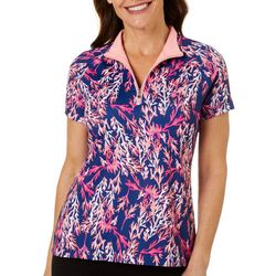 Coral Bay Golf Womens Coral Print Polo Shirt