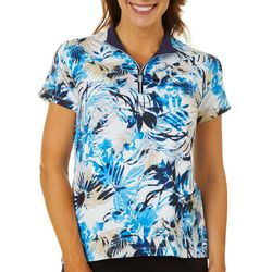 Coral Bay Golf Womens Hawaiian Ocean Short Sleeve Polo Shirt
