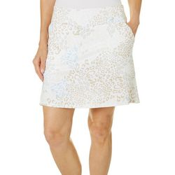 Coral Bay Golf Womens Geo Animal Flared  Pull On Skort