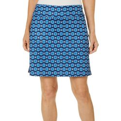 Coral Bay Golf Womens Golf Club Print Pull On Skort