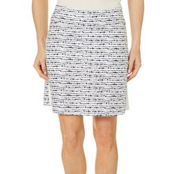 Coral Bay Golf Womens Dotted Lines Print Pull On Skort