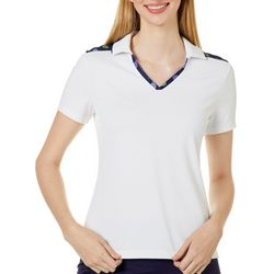 Lillie Green Womens What's The Racket Colorblock Polo