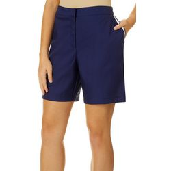 Lillie Green Womens Ruffle Trim Shorts