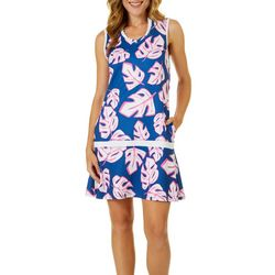Lillie Green Womens Open Leaves Sleeveless Dress