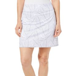 Coral Bay Golf Womens Leaf Print Pull On Skort