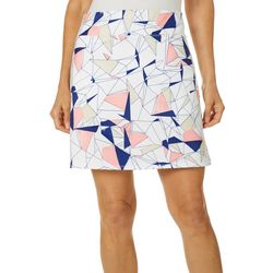 Coral Bay Golf Womens Abstract Geometric Pull On Skort