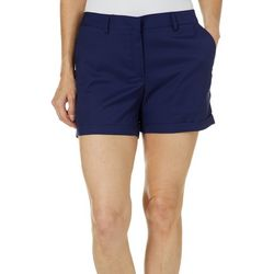 Lillie Green Womens Solid Shorts