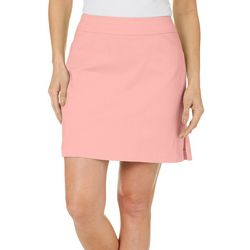 Coral Bay Golf Womens Solid Bengaline Skort