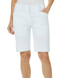 Coral Bay Golf Womens Bengaline Solid Shorts