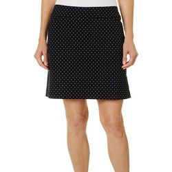 Coral Bay Golf Womens Polka Dot Bengaline Skort