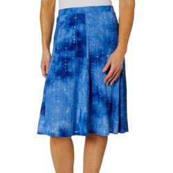 Sami & Jo Womens Sequin Fiesta A-Line Skirt