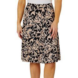 Sami & Jo Womens Pull On Puff Print Skirt