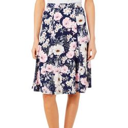 Sami & Jo Womens Floral Puff Print Pull On Skirt