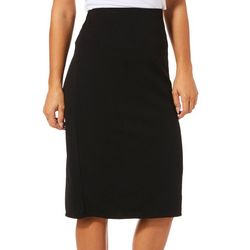 Tacera Womens Solid Pull On Skirt