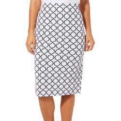Tacera Womens Tile Print Pull On Skirt