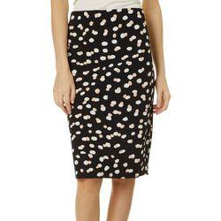 Philosophy Womens Dot Print Back Zip Skirt