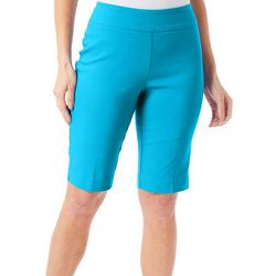 Counterparts Womens Solid Pull On Bermuda Shorts