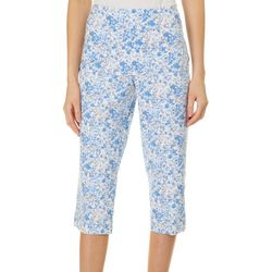 Counterparts Womens Floral Super Stretch Pull On Capris