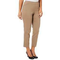 Counterparts Womens Solid Embellished Hem Pull On Pants