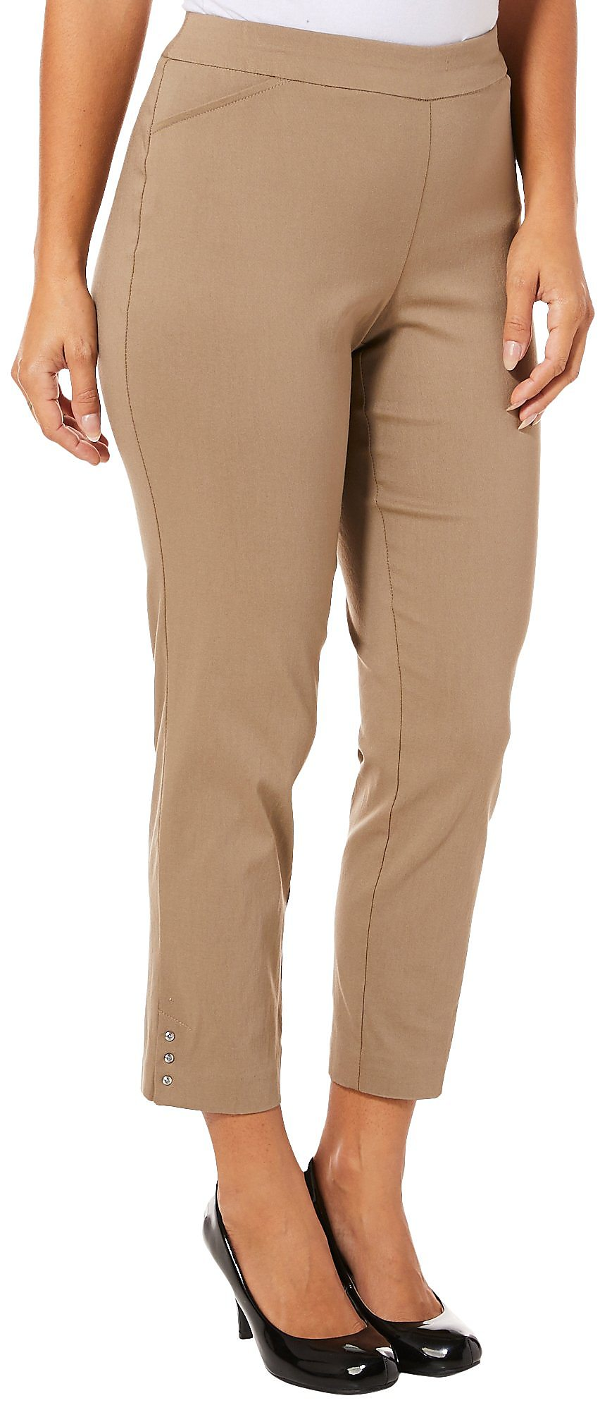 951d44cc922 Counterparts Womens Solid Embellished Hem Pull On Pants