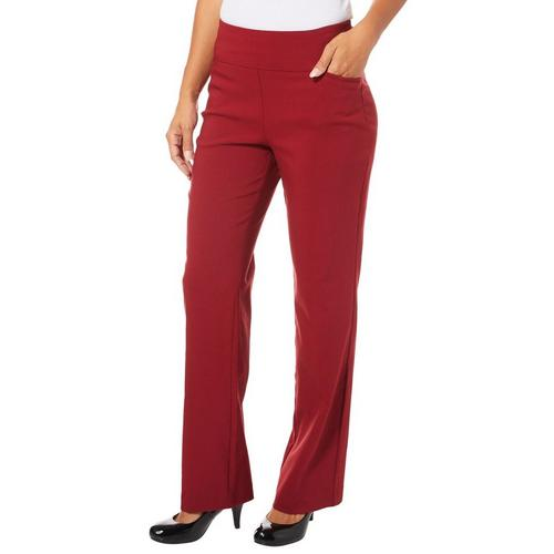 722c6ad636f Counterparts Womens Solid Boot Cut Pull On Pants