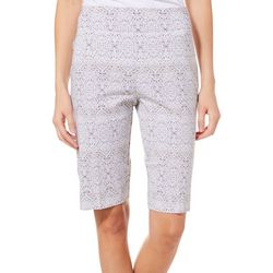 Counterparts Womens Super Stretch Damask Bermuda Shorts