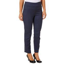 Counterparts Womens Super Stretch Embellished Hem Pants