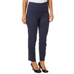 Counterparts Womens Super Stretch Embellished Hem Pants