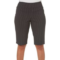 Counterparts Womens Diamond Print Pull On Bermuda Shorts