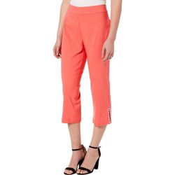 Counterparts Womens Pull On Stud Embellished Capris