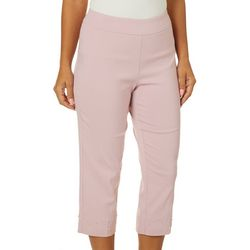 Counterparts Womens Pull On Pearl Embellished Capris