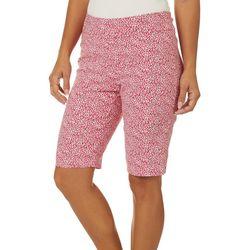 Counterparts Womens Animal Print Skimmer Bermuda Shorts