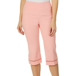 Counterparts Womens Crochet Hem Pull On Career Capris