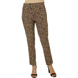 Counterparts Womens Leopard Print Pull On Pants