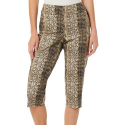 Counterparts Womens Snake Print Pull On Capris